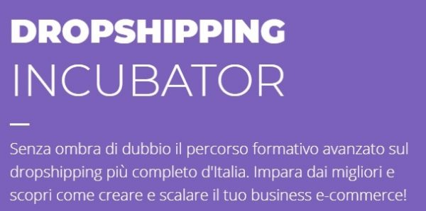 DOwnload corso dropshipping incubator